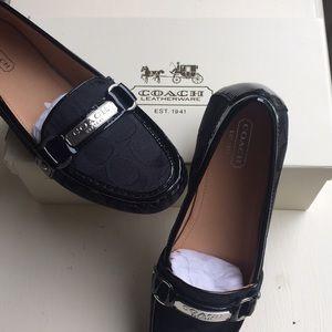 Black coach loafer